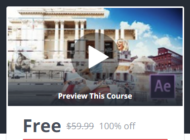 Udemy Coupon 100% Off - After Effects CC : Create Stunning Video Transitions Easily!
