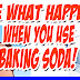 Can you believe this!  See what happens when you use baking soda!