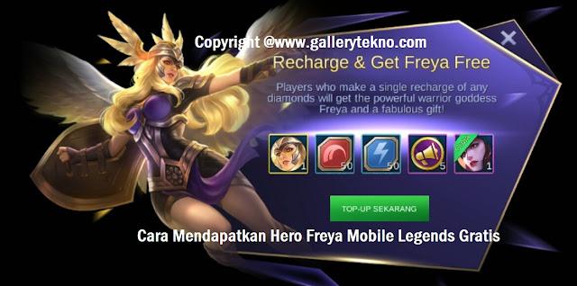 cara mendapatkan hero freya gratis dengan pulsa 3000