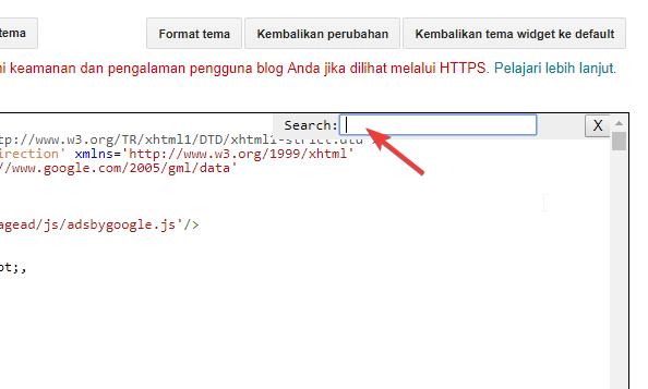 Menghapus Menambah Bagian Template Blogger Dengan Edit HTML