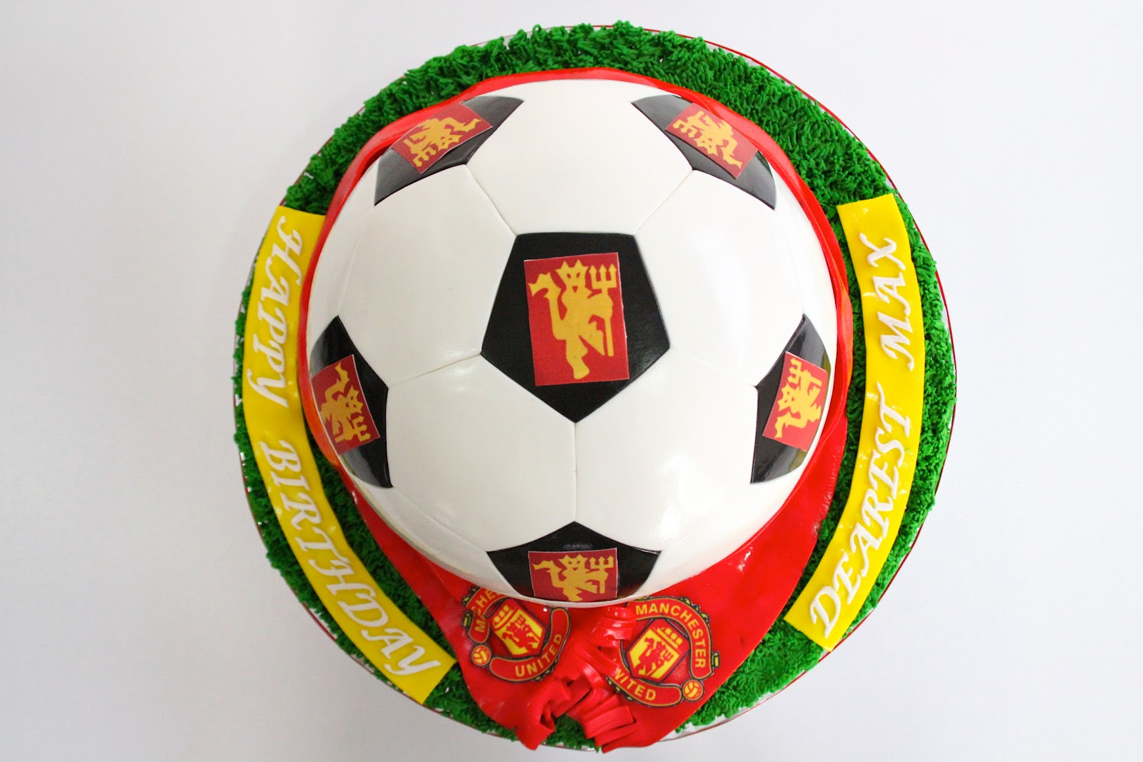 Manchester United Soccer Ball Cake Celebrate With Cake