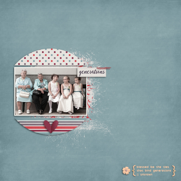 generations © sylvia • sro 2016 • luv ewe designs • family ties