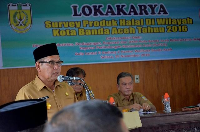 Buka Lokakarya Survey Produk Halal, Plt Walkot: Pengawasan Tugas Bersama