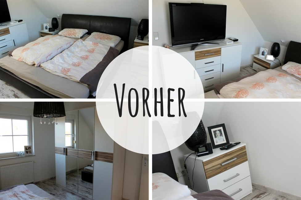 diy schlafzimmer make over vorher nachher mit tollen. Black Bedroom Furniture Sets. Home Design Ideas