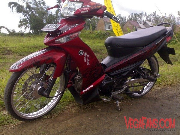 Modifikasi Vega ZR Merah Ceper