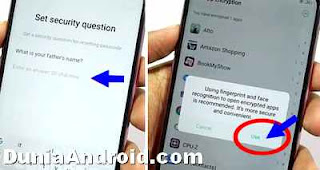 security Question oppo f7