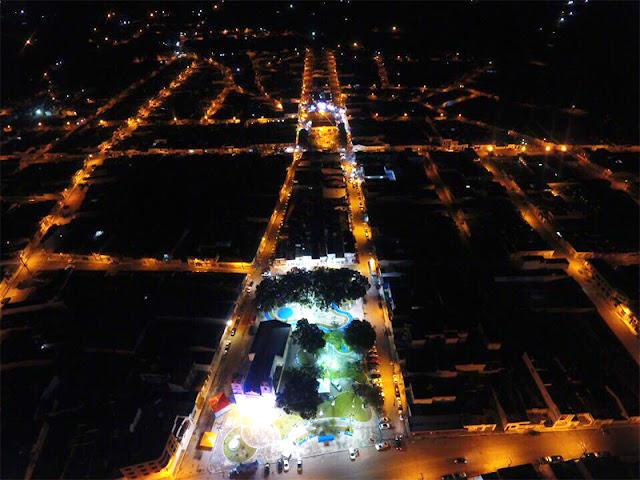 Foto aérea notorna de Campo do Brito - Agosto 2017