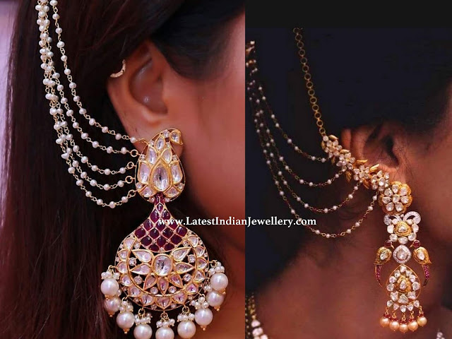 Bridal Polki Earrings