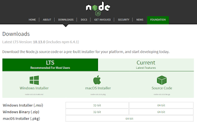nodejs download page