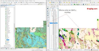 Mismo color en QGIS y ArcMap