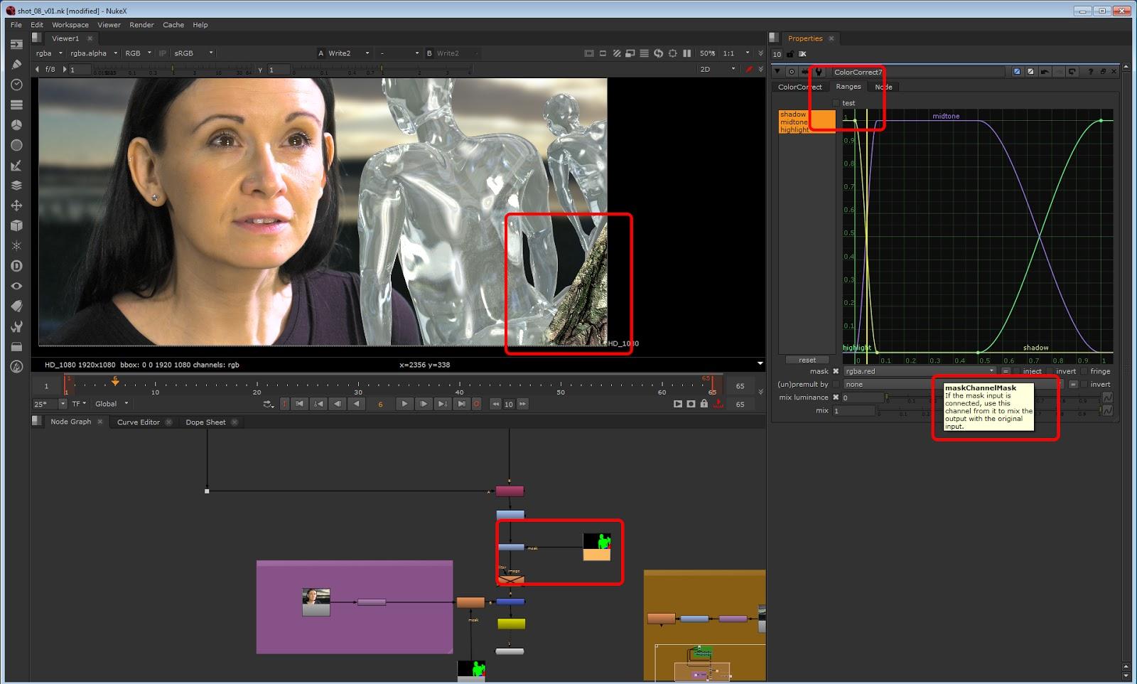 animatedcreativeandreamcswan: NUKE: isolating CGI elements