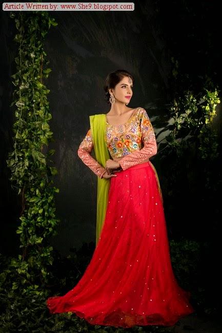 ac9a6ca7a Zari Faisal Pakistani Lehenga Choli and Bridal Shirts - She9 ...