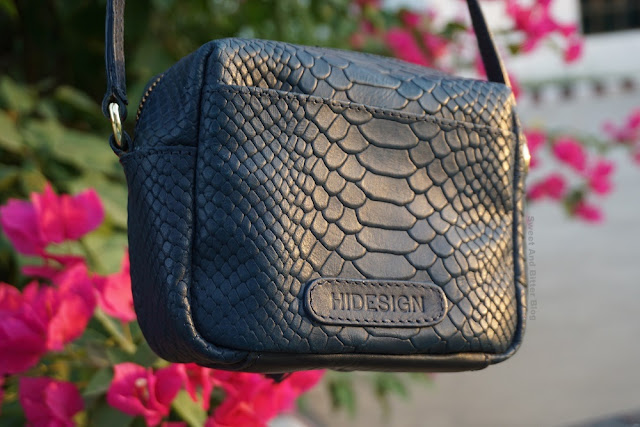 Hidesign Midnight Blue Ellie Mini Bag Back Pocket