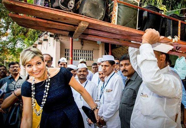 Queen Maxima visits Mumbai Dabbawalas Association
