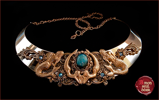 Collier sirène mythologie antique siren mermaid necklace mythology jewelry