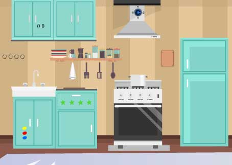 Juegos de Escape Online - Kitchen Door Escape
