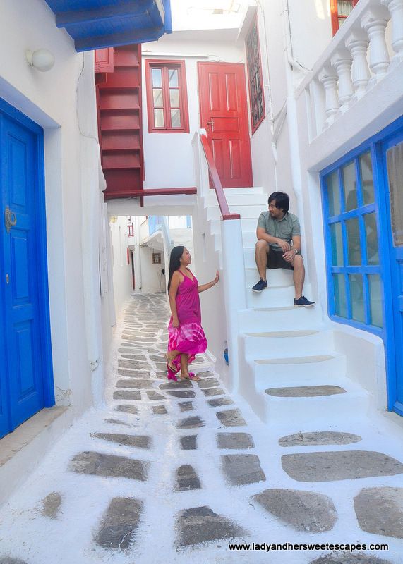 Ed and Lady in Mykonos