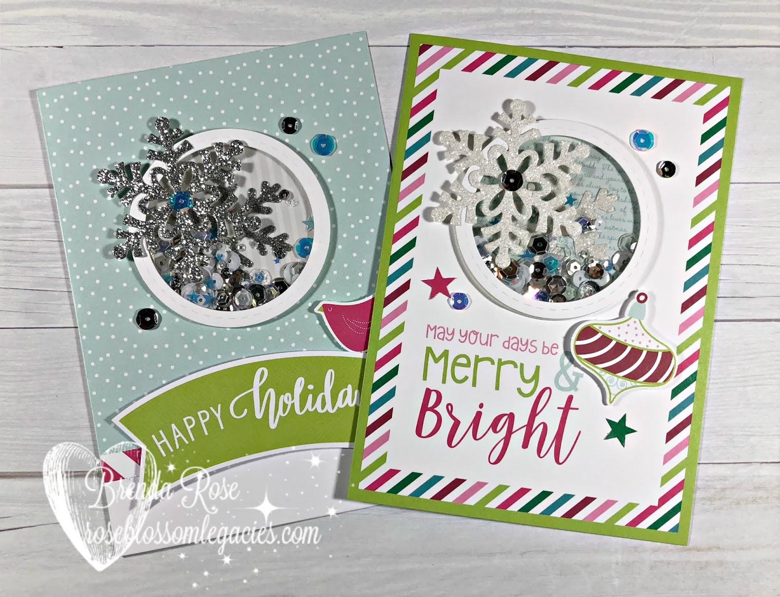 Rose Blossom Legacies: Holiday Sparkle Christmas Card Workshop