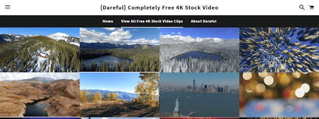 1- موقع dareful : يحتوي علي مقاطع فيديو منتقاة فائقة الدقة و 4k