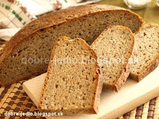 Ražný grahamový kváskový chlieb - recepty
