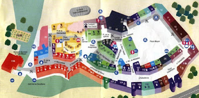 Map of Poble Espanyol in Barcelona