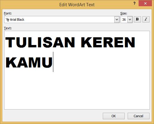 cara membuat wordart tulisan keren di microsoft word 2