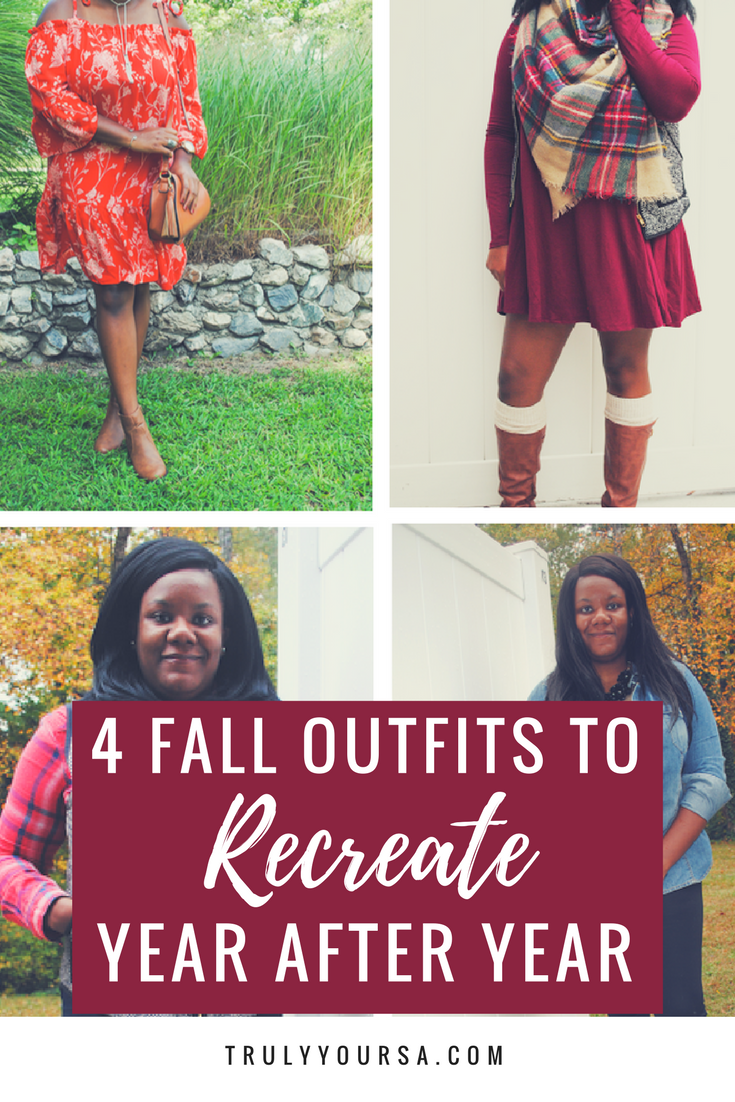 "When it comes to everyday style, there are just certain fall outfits that continue to make an appearance year after year. I try to incorporate a few new pieces every year, but my motto when it comes to getting dressed during this season is ""if it ain't broke, don't fix it!"" Today I'm sharing my top 4 staple outfits that you can recreate year after year!"