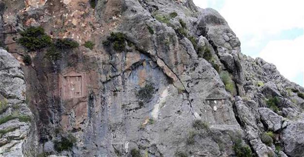 Treasure hunters destroy ancient rock-cut tombs in Turkey's Antalya