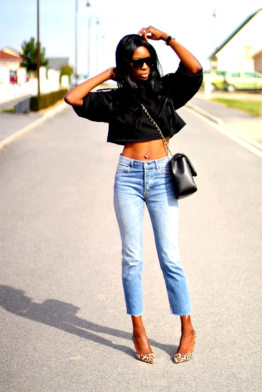 blog-mode-total-look-jeans-escarpins-leopard