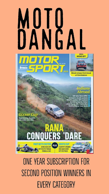 Moto Dangal Prizes fro all second position winners from Motorsports India
