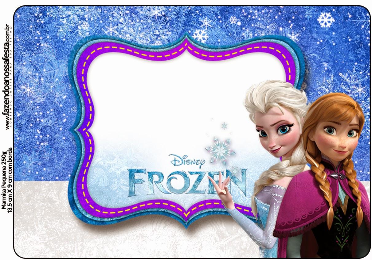 Marco de Frozen para imprimir gratis.