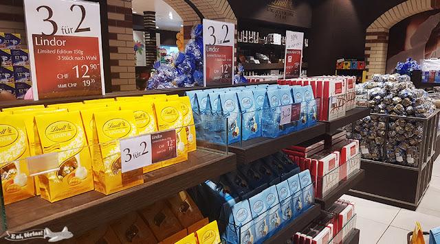 Promoção na loja de fábrica da Lindt, em Zurique