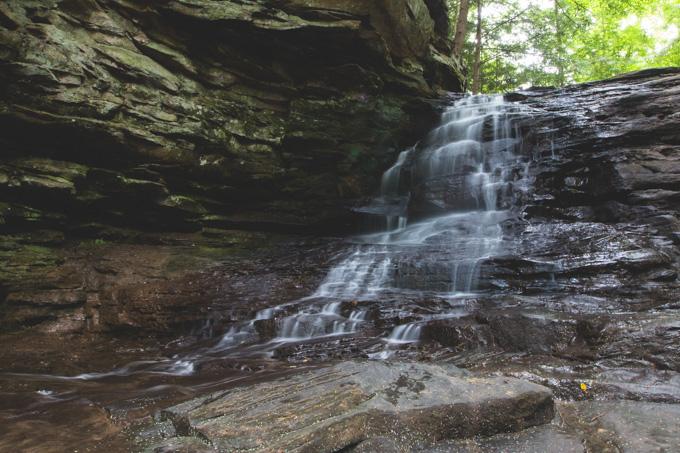 vermillion, waterfall, ohio waterfalls