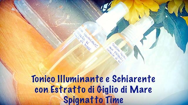 Tonico illuminate e schiarente all'estratto di giglio di mare - alcool free -