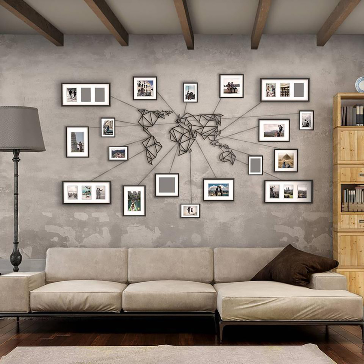 "Accrocher Un Tableau Sur Un Mur artwall and co"" vente tableau design, décoration maison"