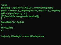 Cara mudah buat Auto Sitemap di wap AGC / Grabber