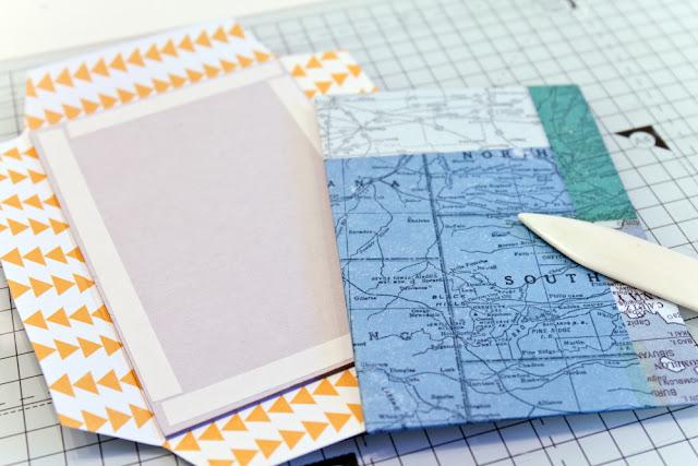 Graupappe mit Designpapier beziehen