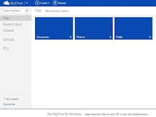 Cara Membuat Akun SkyDrive Microsoft 7 GB FREE