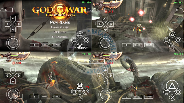 Game God of War Ghost of Sparta ISO CSO High Compress PSP
