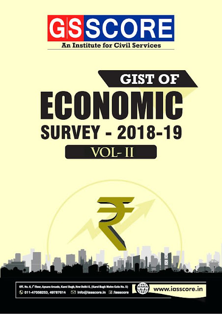 GS Score Economic Survey 2018-2019 Part 2