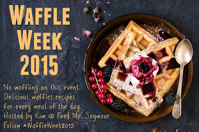 #WaffleWeek2015 hosted  by Kim @ Feed Me, Seymour: unique waffle recipes by 27 bloggers | www.BakingInATornado.com