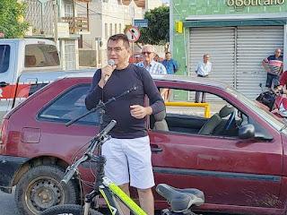 Prefeitura realiza o 1º Eco Pedal de Picuí 2019. Prefeito Olivânio Remígio saudou participantes