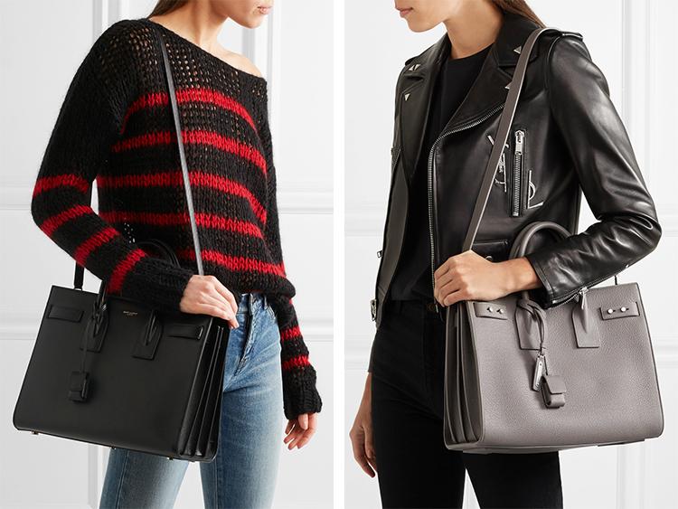 f8ef61bd28 Review  Saint Laurent Sac De Jour Leather Tote - Elle Blogs