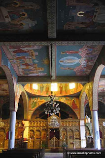 Greek Catholic Patriarchate, In 1848 the Church is built as an oriental basilica. The walls are covered with Byzantine-period frescoes depicting scenes from the life of Jesus.