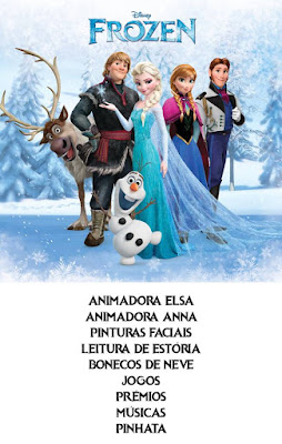 Animação Festa Frozen O Reino do Gelo