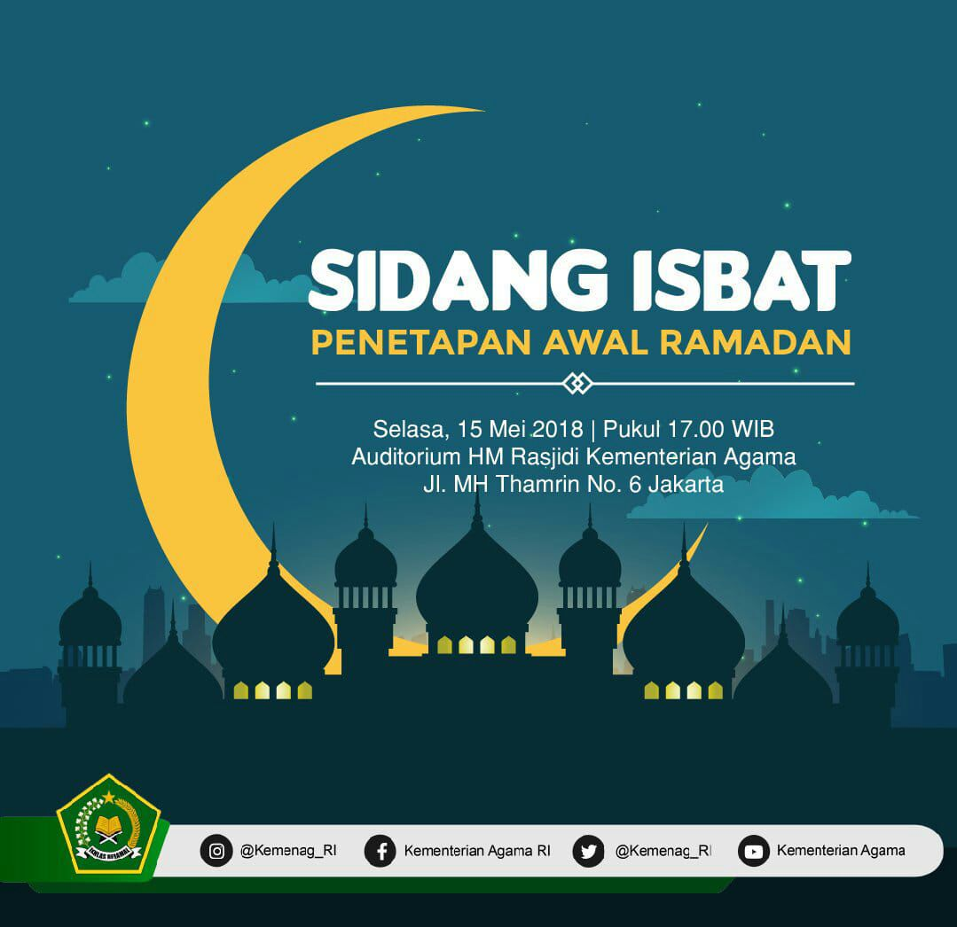 Jadwal sidang Isbat penetapan Bulan Ramadhan Selasa, 15 ...