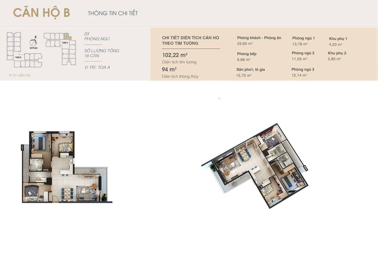 Thiết kế căn hộ b chung cư Dlc complex