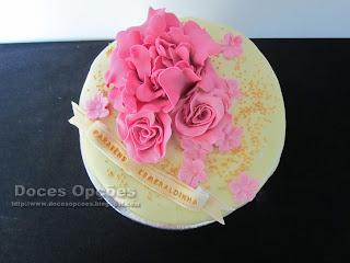 bolos artesanais flores