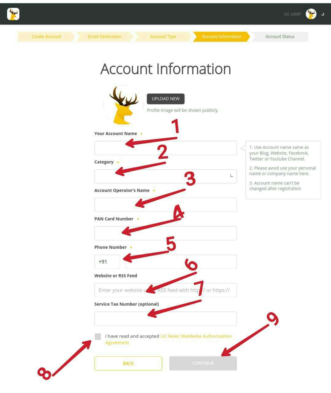 Uc news account information, UC news par account kaise banaye puri jankari hindi me