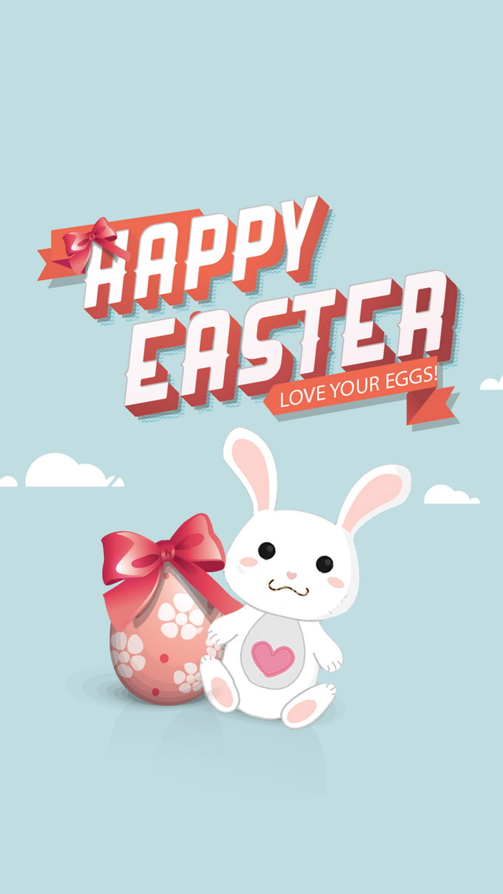 Android Best Wallpapers Happy Easter Egg And Bunny Illustration